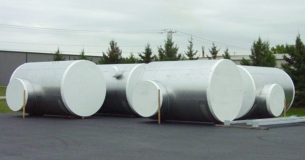Large Ductwork with Shrink wrapped Ends